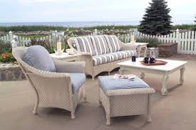 Gorgeous Lloyd Flanders Patio Furniture Coastal Wicker Chairs  White Exterior Design Suggestion Lloyd Flanders Furniture D55