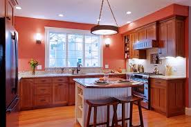 brown kitchen ideas unique pendnat light small kitchen island brown wooden chair marble countertop brown wall mounted cabinet