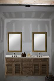 Modern Bathroom Vanity Lights Delectable One Large Mirror Or Two Individual Mirrors Over Double Vanity