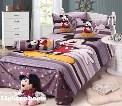 purple stripe mickey mouse bedding full disney bedding sets coloring