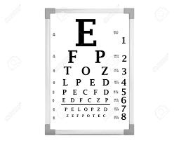 Snellen Eye Chart Test Box On A White Background 3d Rendering