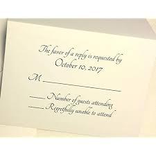 How To Reply To Wedding Rsvp Card Rsvp Cards Wedding Amazon Com