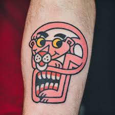 Pickled Pink Hilarious Pink Panther Tattoos Tattoo