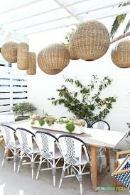 woven basket pendant light outdoor dining space with woven basket pendant lights navy blue and and woven basket pendant light