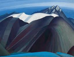 the mountains east of maligne lake painting by artist lawren harris has sold for
