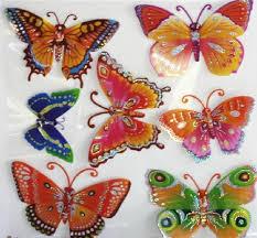 3d wall decal sticker sheet butterfly on foam sheet wall art with 6 x 3d butterfly removable foam wall stickers sheet art decor kid