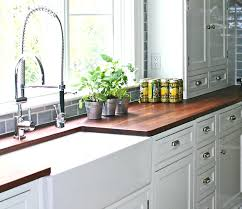 white cabinets with butcher block countertops kitchens endearing