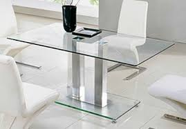 glass dining room table ebay. 1-glass-dining-tables-and-metal-framed-faux- glass dining room table ebay