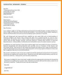 4 5 Cover Letter For Finance Internship Wear2014 Com