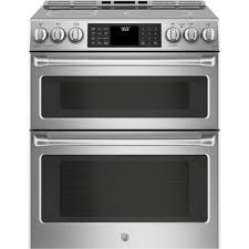 white electric range. Ft. Slide-In Double Oven Electric Induction Convection Range - Stainless Steel White