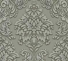 lizzy london grey baroque damask