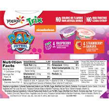 yoplait trix yogurt variety pack of raspberry and strawberry banana burst 8 ct 32 oz walmart