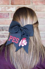 Cheer Bow Designs Puxico Elementary School Cheer Bow