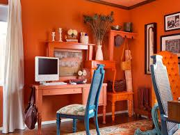 orange home office. orangepacked office orange home