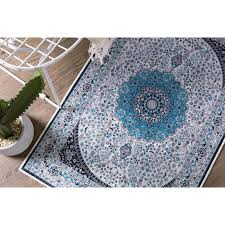 image is loading teal aqua blue gold red rug mat door