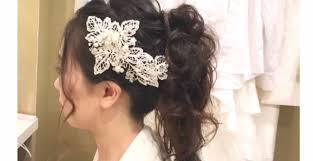 シンプルでゴージャスバックシャンな花嫁ポニーテール10選