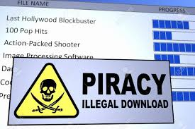 Computer Generated Image Of An Illegal Piracy Download Concept