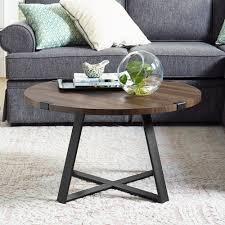 winmoor home transitional round coffee table dark walnut coffee tables best canada