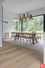 Scandinavische Sfeer Met Lichte Plankenvloer Hoog Exclusieve