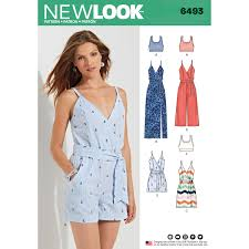 Jumpsuit Pattern Best New Look 48 Misses' Jumpsuit And Dress In Two Lengths With Bralette