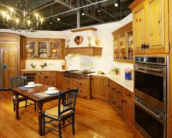 image of warm country kitchen decor themes colors