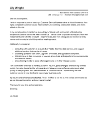 Resume Cover Letter Examples Customer Service Representative Best