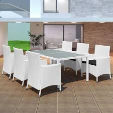 vidaxl outdoor dining set 13 piece poly rattan cream white 1 11