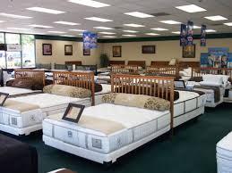 mattress shopping. typical mattress showroom interior shopping