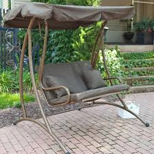 ideas patio furniture swing chair patio. coral coast long bay 2 person canopy swing chocolate ideas patio furniture chair