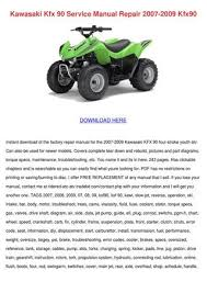 kawasaki kfx service manual repair by elsiecress issuu kawasaki kfx 90 service manual repair 2007 2009 kfx90