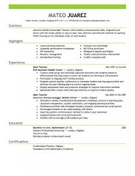 Teaching Resume For Experienced Teacher Resume Work Template