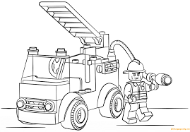 Small Picture Lego City Fire Truck Coloring Page Free Coloring Pages Online