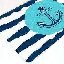 dark aqua bath rugs nautical mat bathroom decor anchor rug navy aqua bath rug