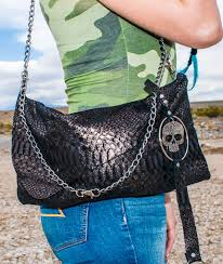 mermaid skull leather purse