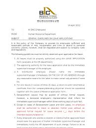 sick leave application letter to hr  sample sick leave letter sample letters foundletters