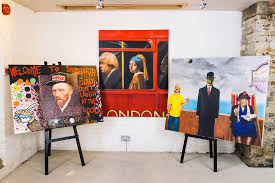 acclaimed urban artist pure evil and fine artist paul karslake have reimagined six of the most recognisable paintings of all time bringing these classic