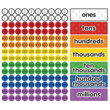 Magnetic Place Value Chart Dowling Magnets Magnetic Place Value Disks Headings