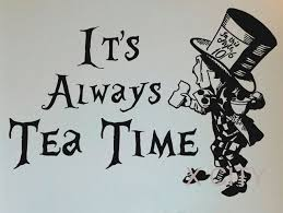 Mad Hatter Quotes Interesting Alice In Wonderland Mad Hatter It's Always Tea Time Cartoon Wall