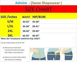 Admire Women Microfiber Waist Trimmer Thigh Slimmer Saree Shapewear Petticoat