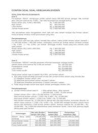 Sakti jaya laporan laba ditahan untuk tahun yang berakhir 31 desember 2018 retained earnings (beginning) 350.000 net profit 250.000 cash dividends (370.000) share dividends (78.000) retained earnings (ending) 152.000 c. Contoh Soal Laba Per Lembar Saham Studi Indonesia