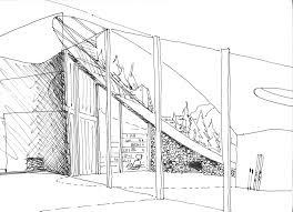 Villa Sketch Design Gallery Of Villa Vals Search Cma 20