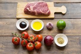 Стейк с лаймовым маринадом и запечёнными томатами | Andy ...