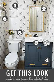 Modern farmhouse bathroom remodel ideas Farmhouse Master Get This Look Chic Modern Farmhouse Bathroom Create Comfortable But Modern Style Powder Remodelaholic Remodelaholic Get This Look Neutral Modern Farmhouse Bathroom