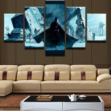 5 panel star wars black knight soldiers painting canvas wall art picture home decor living room canvas print modern painting in painting calligraphy from  on star wars canvas panel wall art with 5 panel star wars black knight soldiers painting canvas wall art