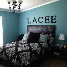 Black White Turquoise Bedroom Ideas