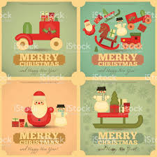 merry christmas and happy new year posters set stock vector art merry christmas and happy new year posters set royalty stock vector art