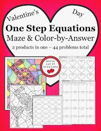e step equations cut and paste activity worksheets one and two step equations