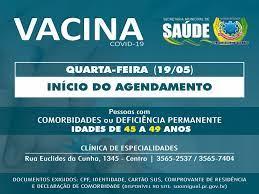 Recomendação de uso é para adultos de 18 anos ou mais, em um esquema de duas doses com um espaçamento de 2 a 4 semanas; Saude Inicia Agendamento De Vacina Contra Covid 19 De Pessoas De 45 A 49 Anos Com Comorbidades Prefeitura De Sao Miguel Do Iguacu