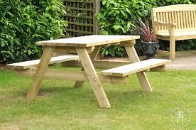 full image for 8 seater round wooden garden table and chairs round wooden garden tables round