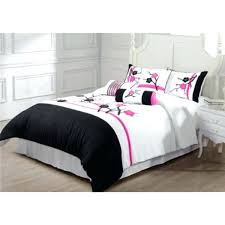white and black bed sheets.  White Pink And Black Comforter Sets White Twin Xl Bedding And White Black Bed Sheets G